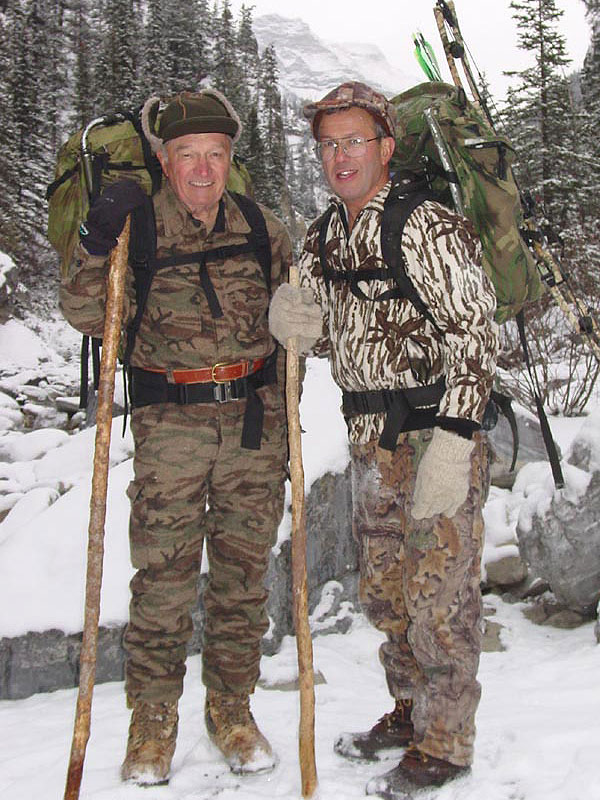 Hunting legends Bob Speegle and Tom Hoffman.